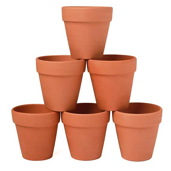 YXMYH 6 Pcs Large Terracotta Pot Clay Pots 5