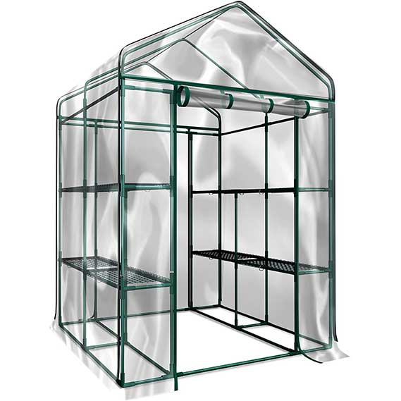 Home-Complete Walk-In Greenhouse- Indoor Outdoor with 8 Sturdy Shelves